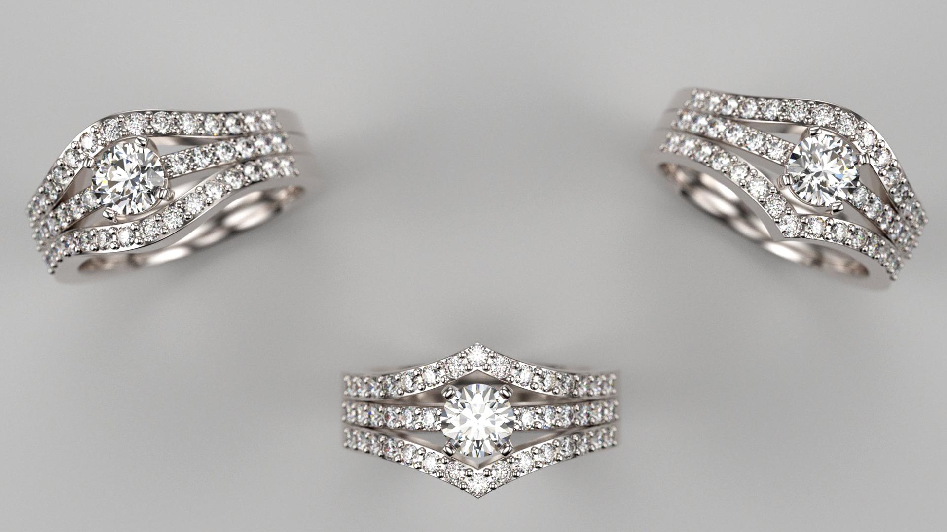 alliances diamants sur mesure