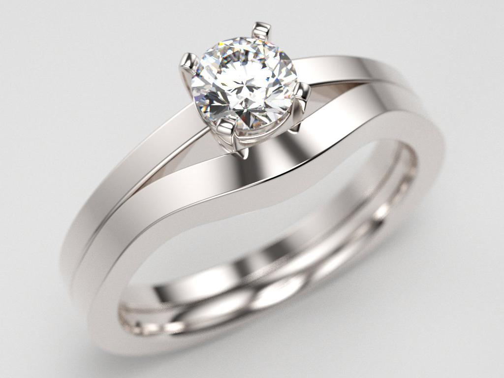 Alliance pour solitaire diamants bijouterie Thomas H