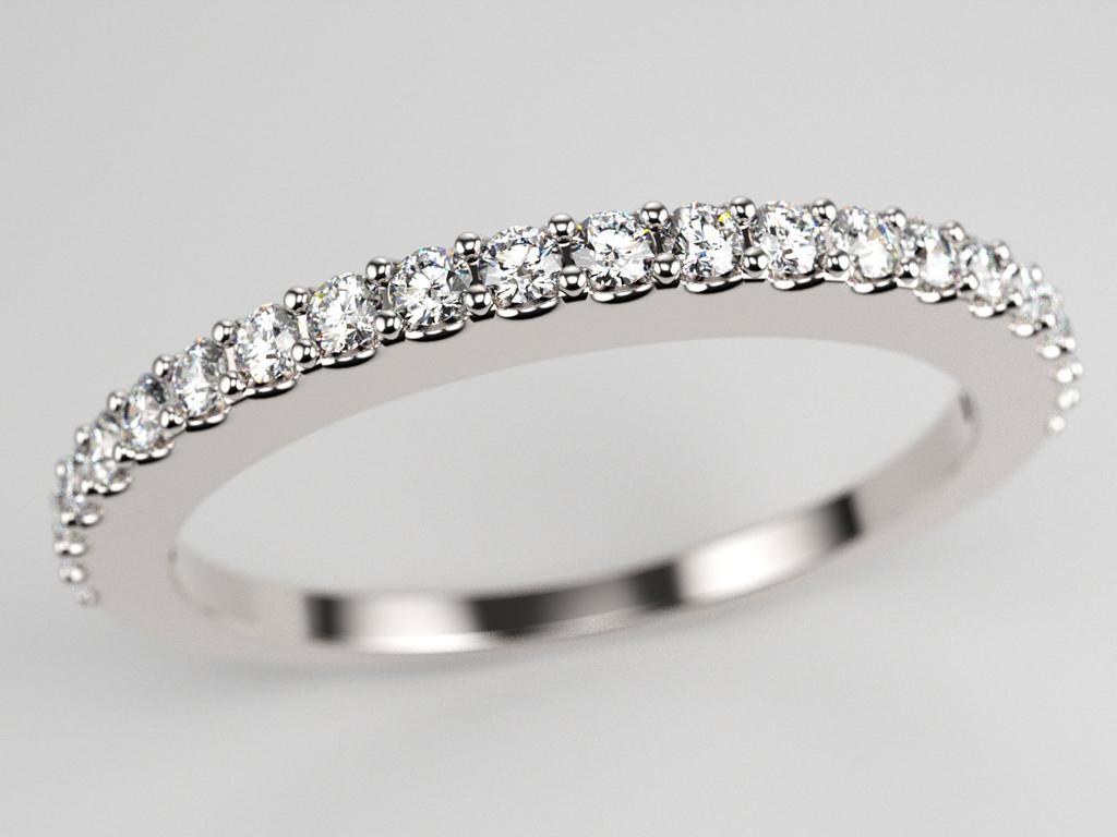 Alliance pavage diamants sans bordures