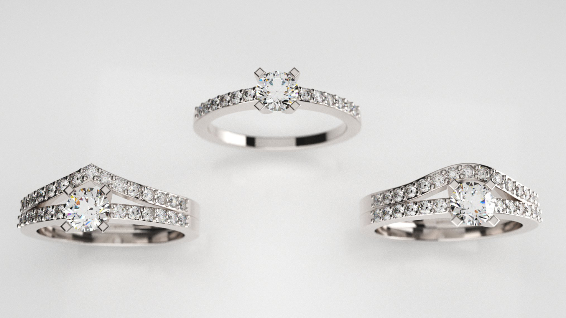alliances pour solitaire diamants bijouterie Thomas H