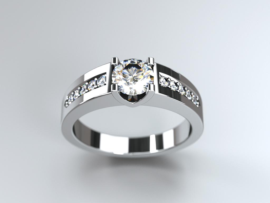 Bague diamant réalisation Thomas H