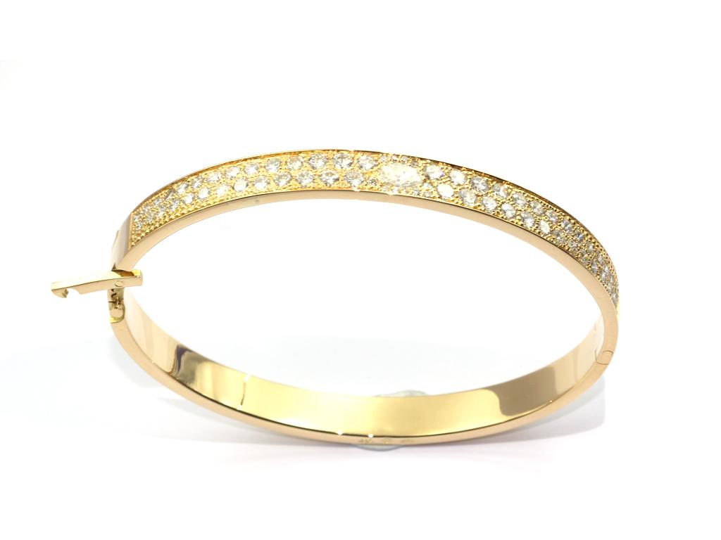 Bracelet pavé diamants réalisation Thomas H
